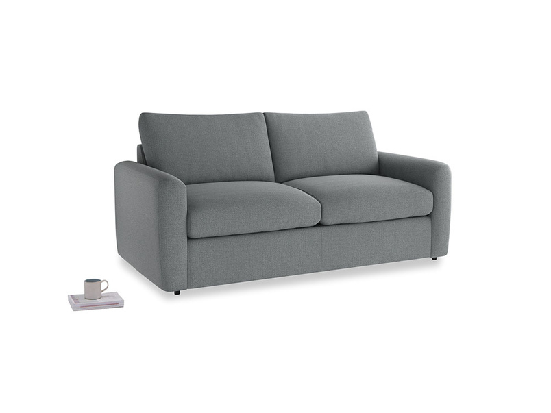 Chatnap Storage Sofa in Cornish Grey Bamboo Softie with both arms