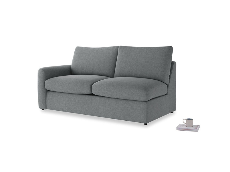 Chatnap Storage Sofa in Cornish Grey Bamboo Softie with a left arm