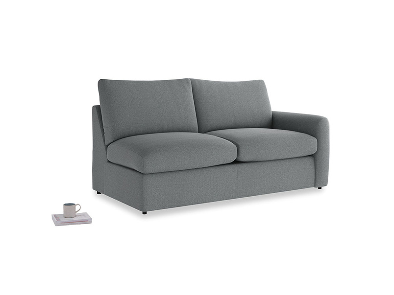 Chatnap Storage Sofa in Cornish Grey Bamboo Softie with a right arm