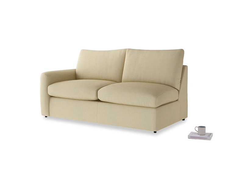 Chatnap Storage Sofa in Parchment Clever Linen with a left arm
