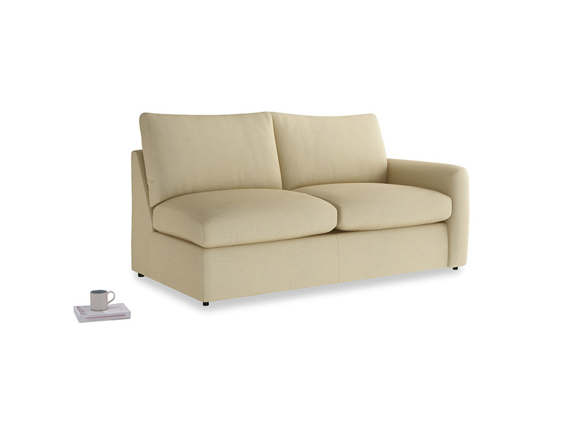 Chatnap Storage Sofa in Parchment Clever Linen with a right arm