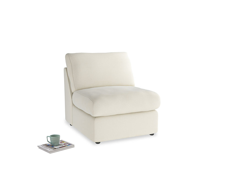 Chatnap Storage Single Seat in Alabaster Bamboo Softie
