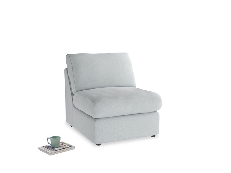 Chatnap Storage Single Seat in Gull Grey Bamboo Softie