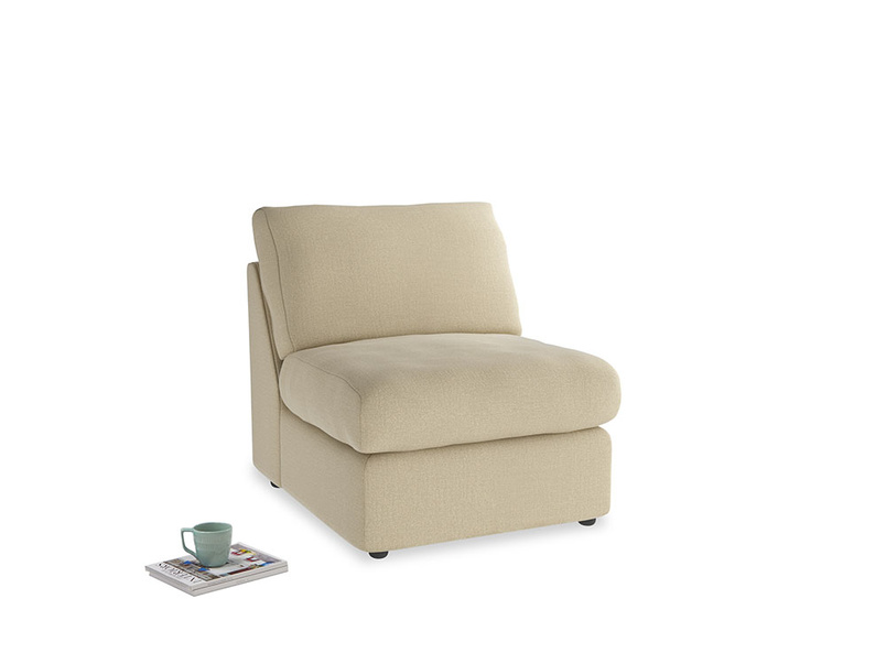 Chatnap Storage Single Seat in Hopsack Bamboo Softie