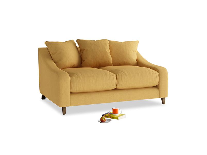 Small Oscar Sofa in Dorset Yellow Clever Linen