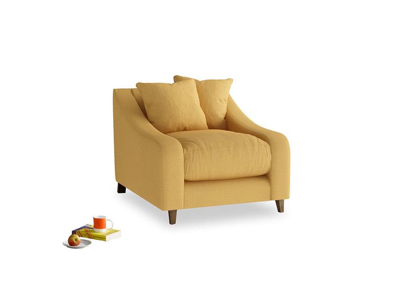 Oscar Armchair in Dorset Yellow Clever Linen