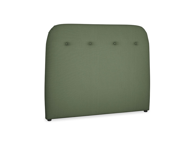 Double Napper Headboard in Forest Green Clever Linen