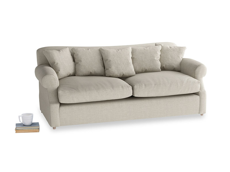 Large Crumpet Sofa Bed in Thatch house fabric