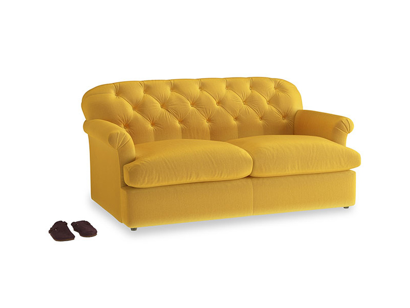 Medium Truffle Sofa Bed in Pollen Clever Deep Velvet