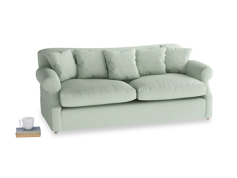 Large Crumpet Sofa Bed in Soft Green Clever Softie