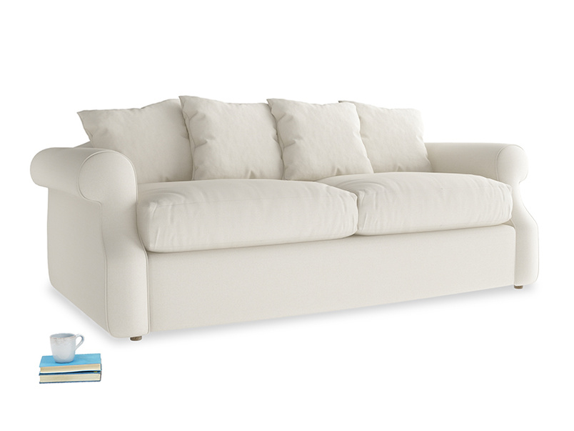 Medium Sloucher Sofa Bed in Chalky White Clever Softie