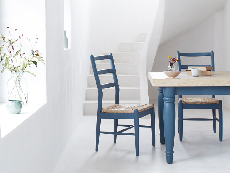 Scullery kitchen table with Hobnob painted farmhouse chair