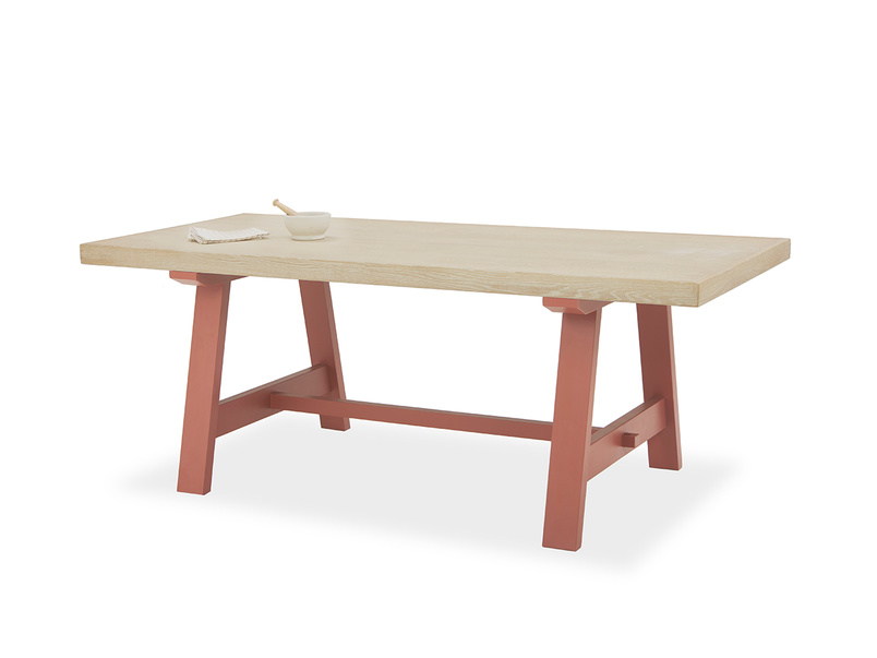 Trestle Table in Earthy red