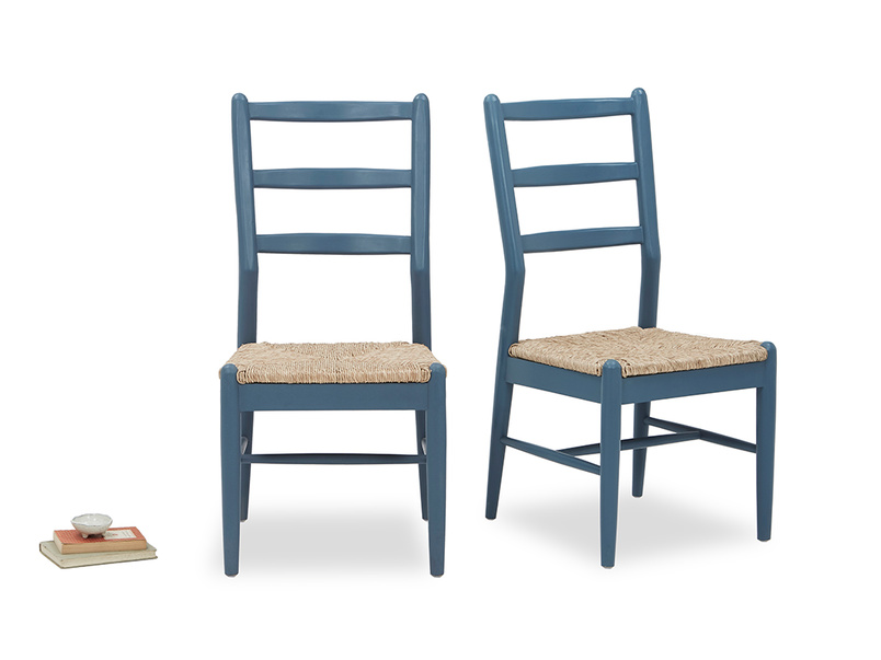 Pair of Hobnob Kitchen Chairs in Heritage Blue