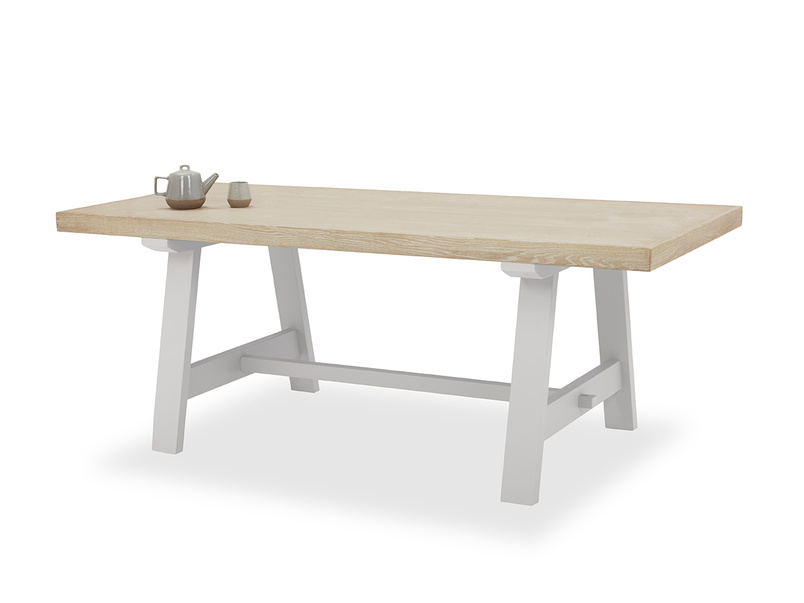 Trestle Table in Pale Grey