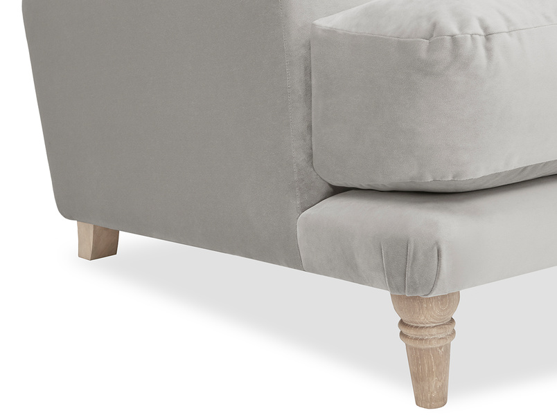 Sugar Bum love seat sofa leg detail