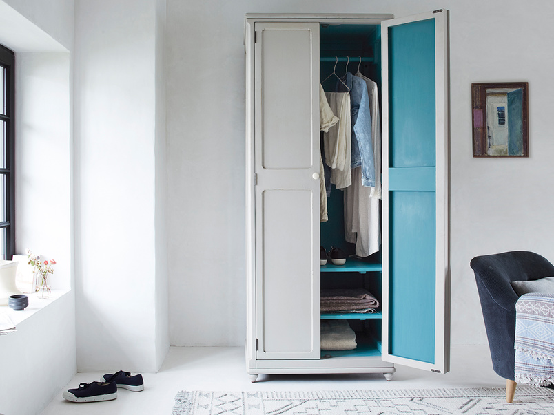 Grand Popinjay colourful narrow wardrobe