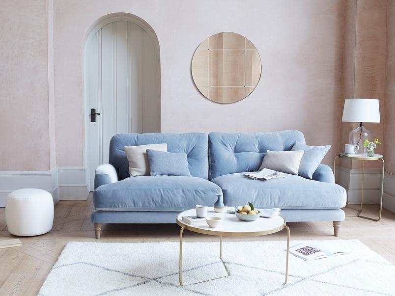 Sugar bum upholstered sofa