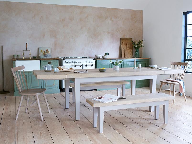 Pantry extendable farmhouse table