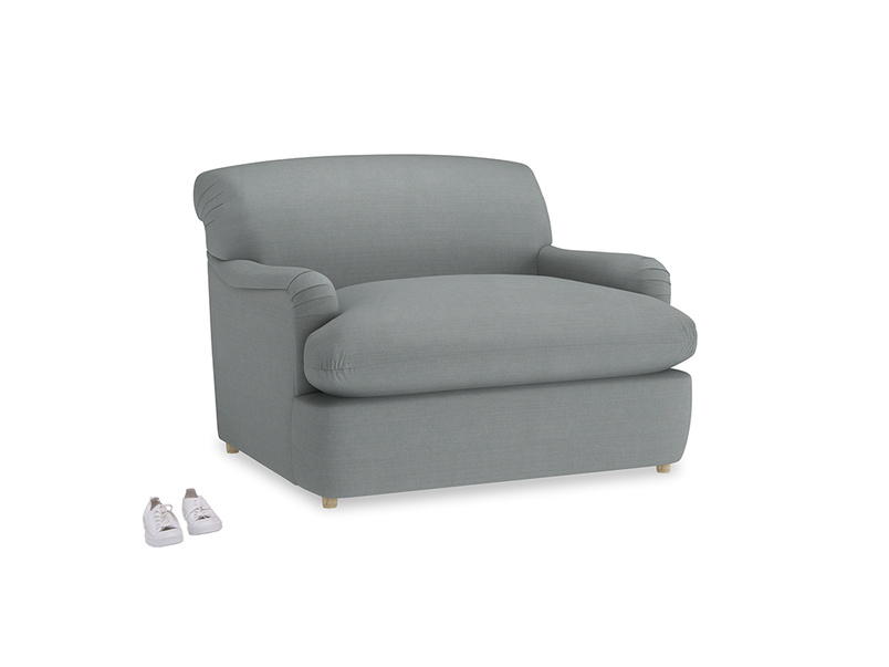 Pudding Love Seat Sofa Bed in Armadillo Clever Softie