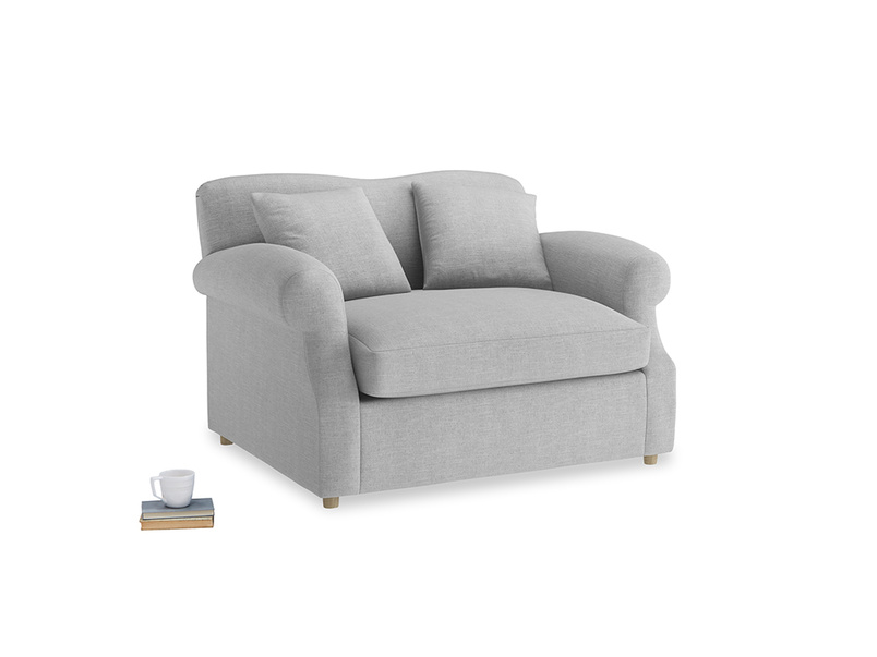 Crumpet Love Seat Sofa Bed in Cobble house fabric