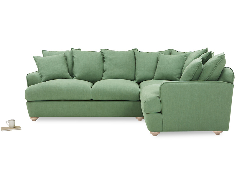 Smooch LA Modern Cushion Back Deep Corner Sofa