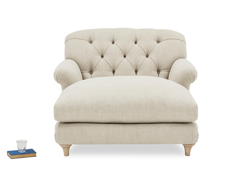 Truffle Chesterfield Love Seat Chaise Snuggler