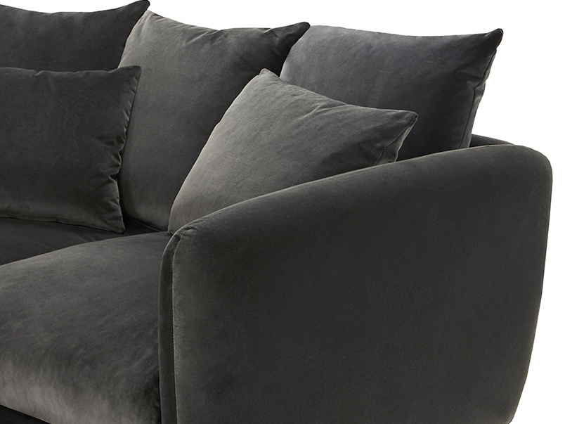 Podge LA Modern L Shaped Corner Sofa corner detail