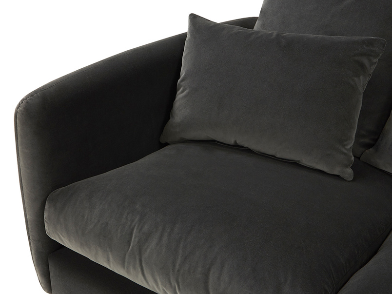 Podge LA Modern L Shaped Corner Sofa seat detail