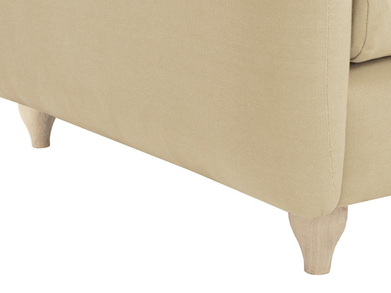 Podge Comfy L Shaped Chaise Sofa leg detail