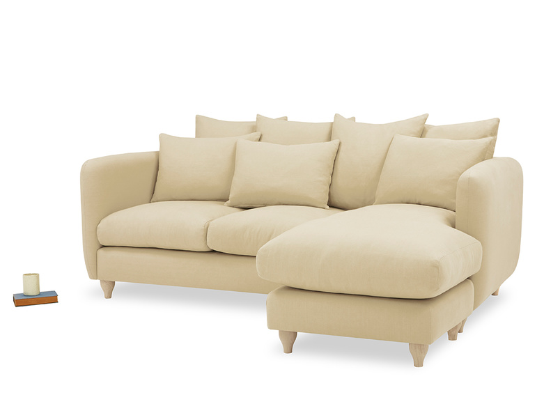 Podge Squishy L Shaped Chaise Sofa