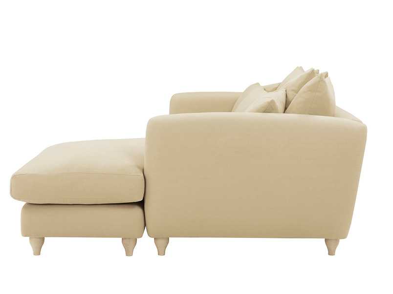 Podge Comfy L Shaped Chaise Sofa side detail