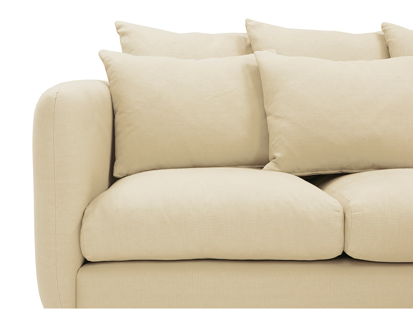 Podge Comfy L Shaped Chaise Sofa front detail