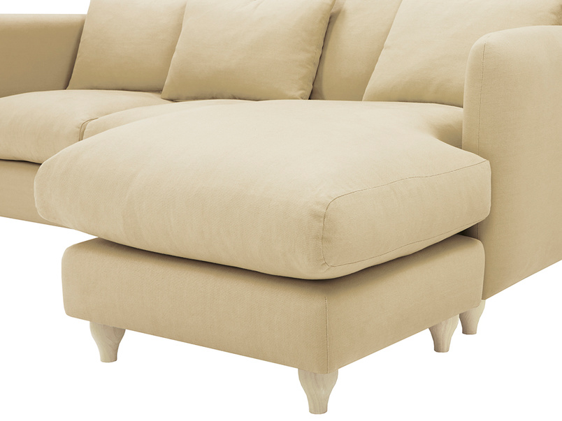Podge Comfy L Shaped Chaise Sofa extension detail