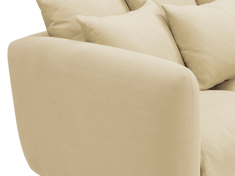 Podge Comfy L Shaped Chaise Sofa Cushion Back detail