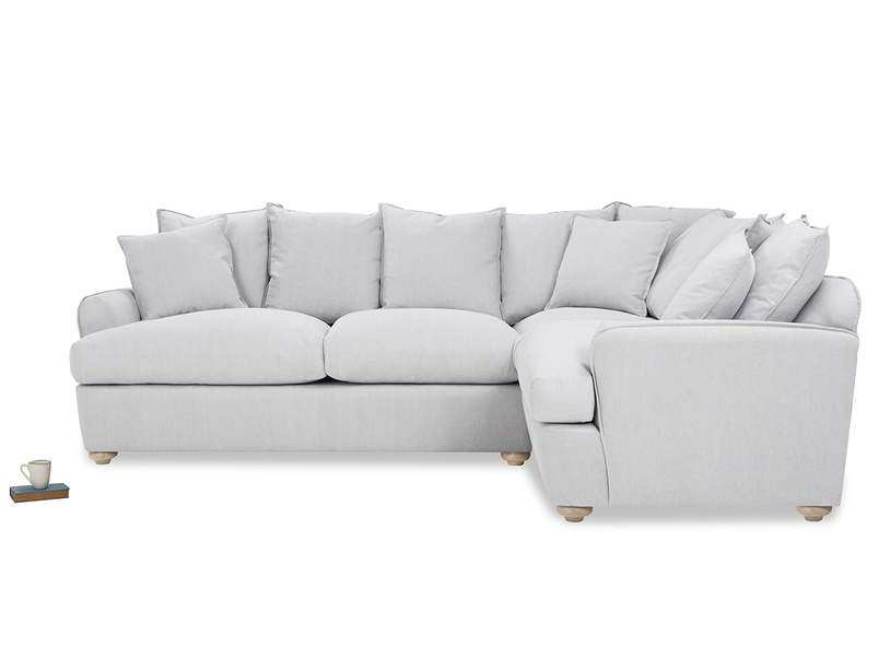 Smooch Large Cushion Back Corner Sofa Bed