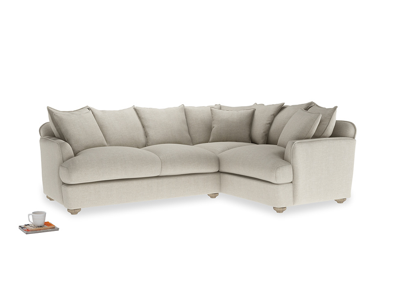 Large Right Hand Smooch Corner Sofa in Thatch house fabric