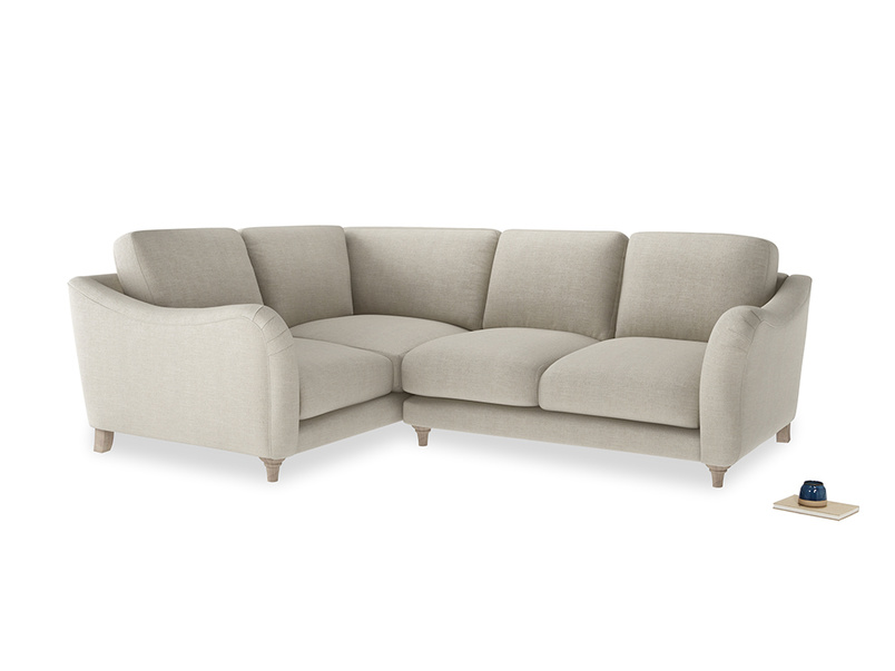 Large Left Hand Bumpster Corner Sofa in Thatch house fabric