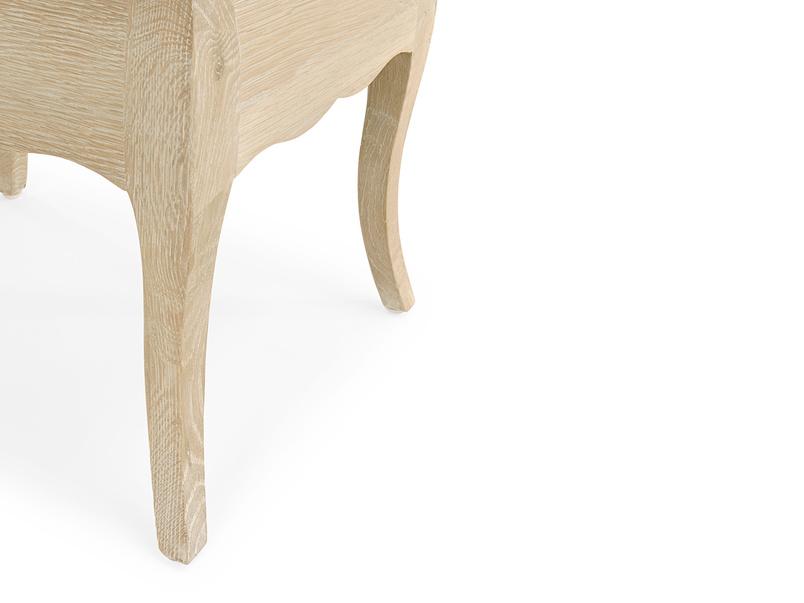 Louise dressing table stool - leg detail
