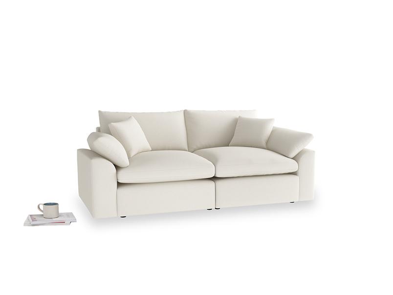 Medium Cuddlemuffin Modular sofa in Chalky White Clever Softie