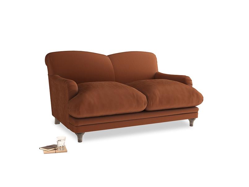 Small Pudding Sofa in Praline Plush Velvet