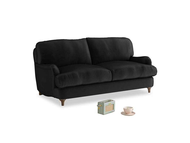 Small Jonesy Sofa in Blackboard Vintage Velvet