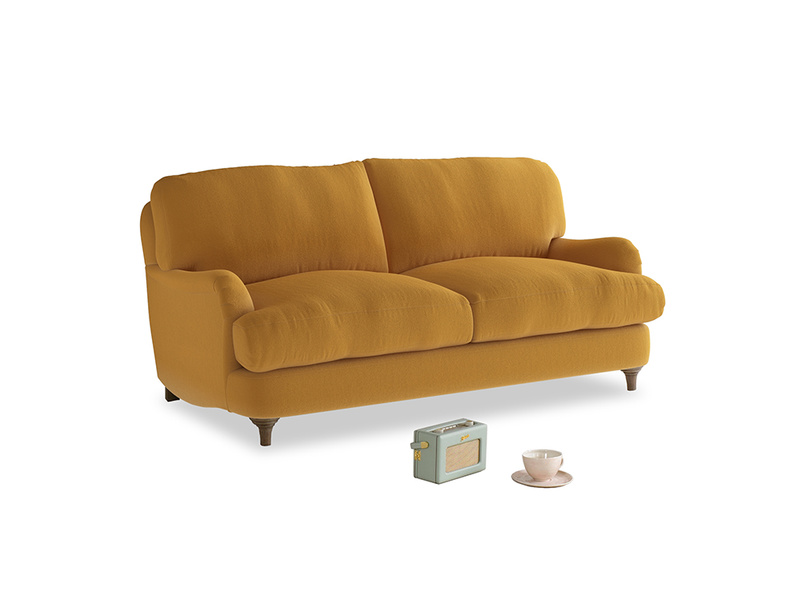 Small Jonesy Sofa in Burnished Yellow Clever Velvet