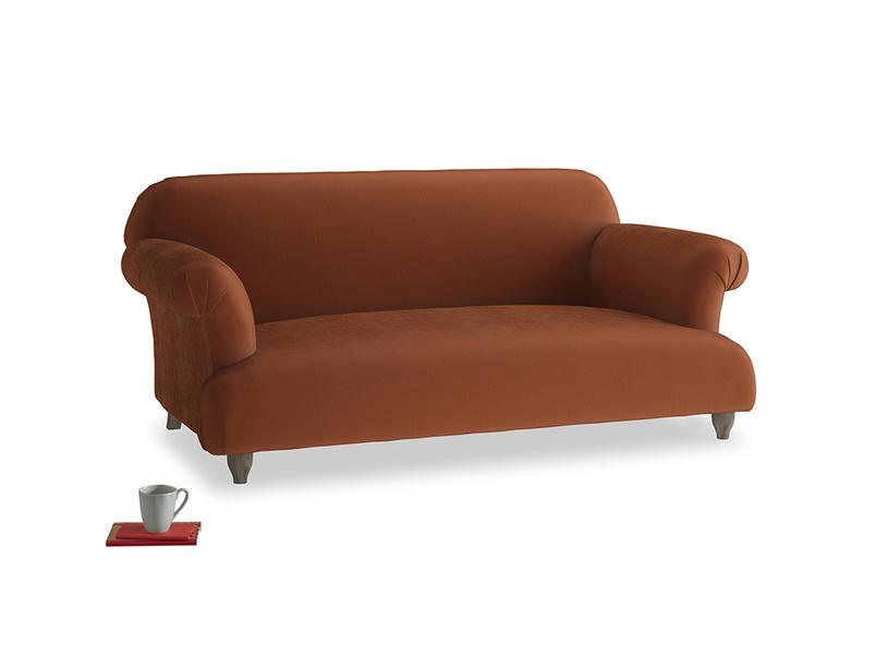 Medium Soufflé Sofa in Praline Plush Velvet