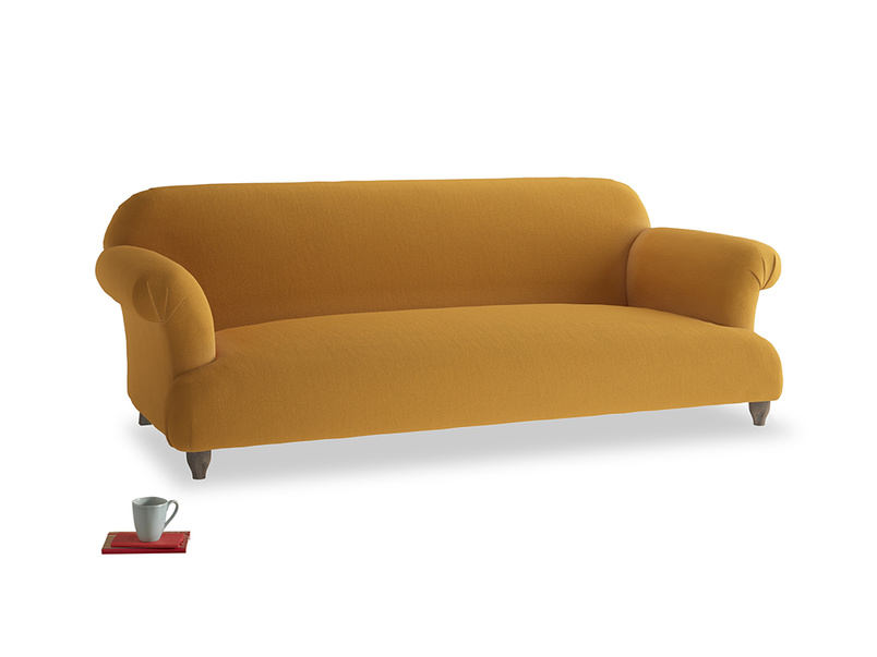 Large Soufflé Sofa in Burnished Yellow Clever Velvet