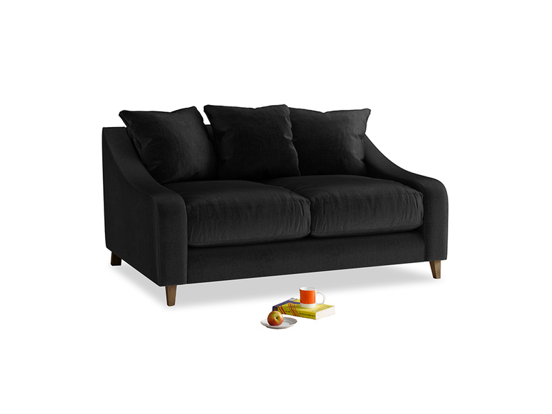 Small Oscar Sofa in Blackboard Vintage Velvet
