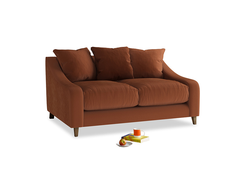 Small Oscar Sofa in Praline Plush Velvet