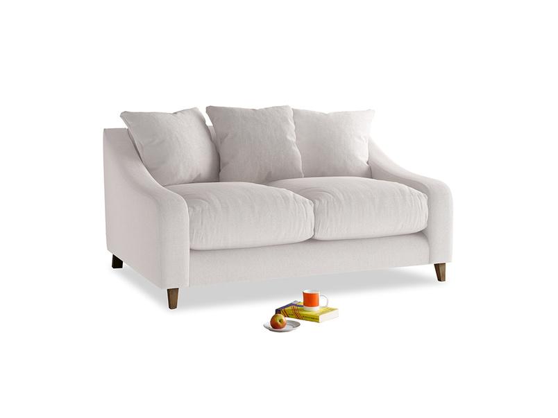 Small Oscar Sofa in Winter White Clever Velvet