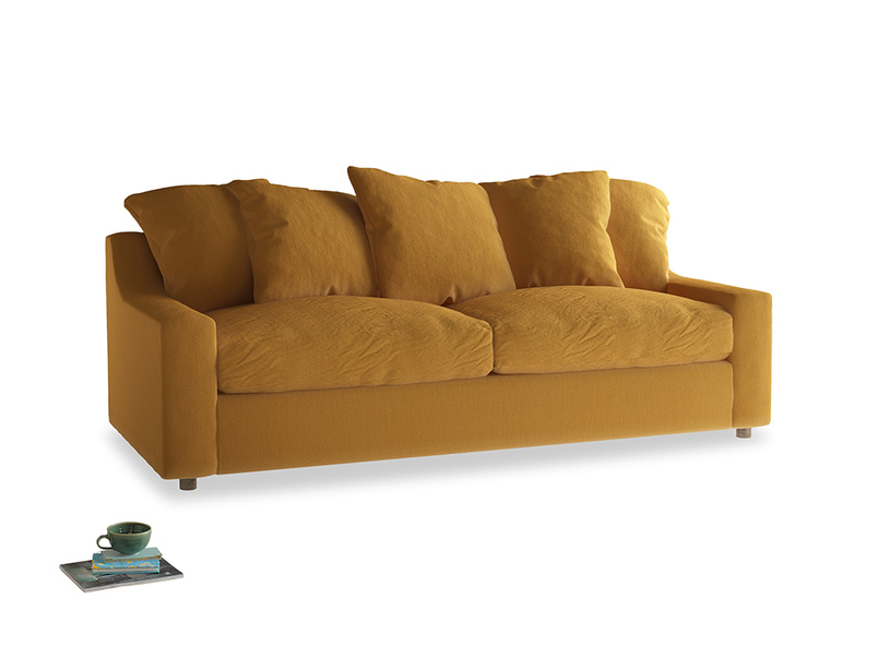 Large Cloud Sofa in Burnished Yellow Clever Velvet