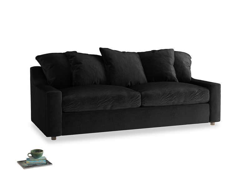 Large Cloud Sofa in Blackboard Vintage Velvet